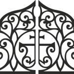 Ворота «Райские узоры»
