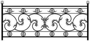 Эскиз кованного балкона