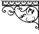 Кованный козырек боковина