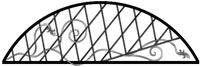 Кованный козырек фасад