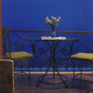 Кованый стол и стул