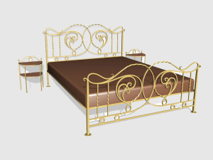 Эскизы кованых кроватей