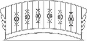 Эскизы кованых балконов