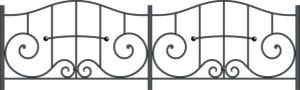Эскиз кованой ограды