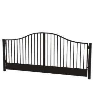 Гаражные распашные сварные ворота