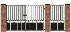 Эскиз сварных распашных гаражных ворот
