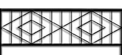 Эскиз забора из штакетника