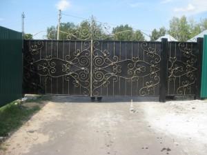Ворота кованые